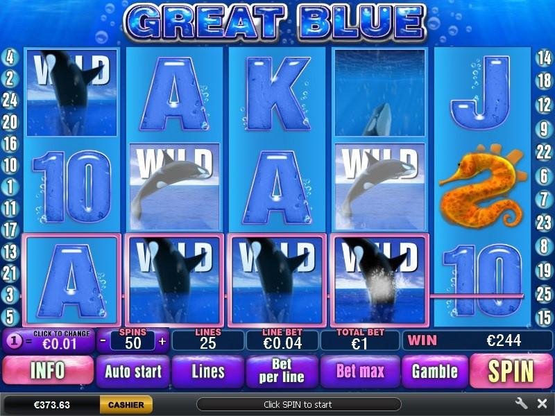 Mudahnya Bermain Great Blue Slot